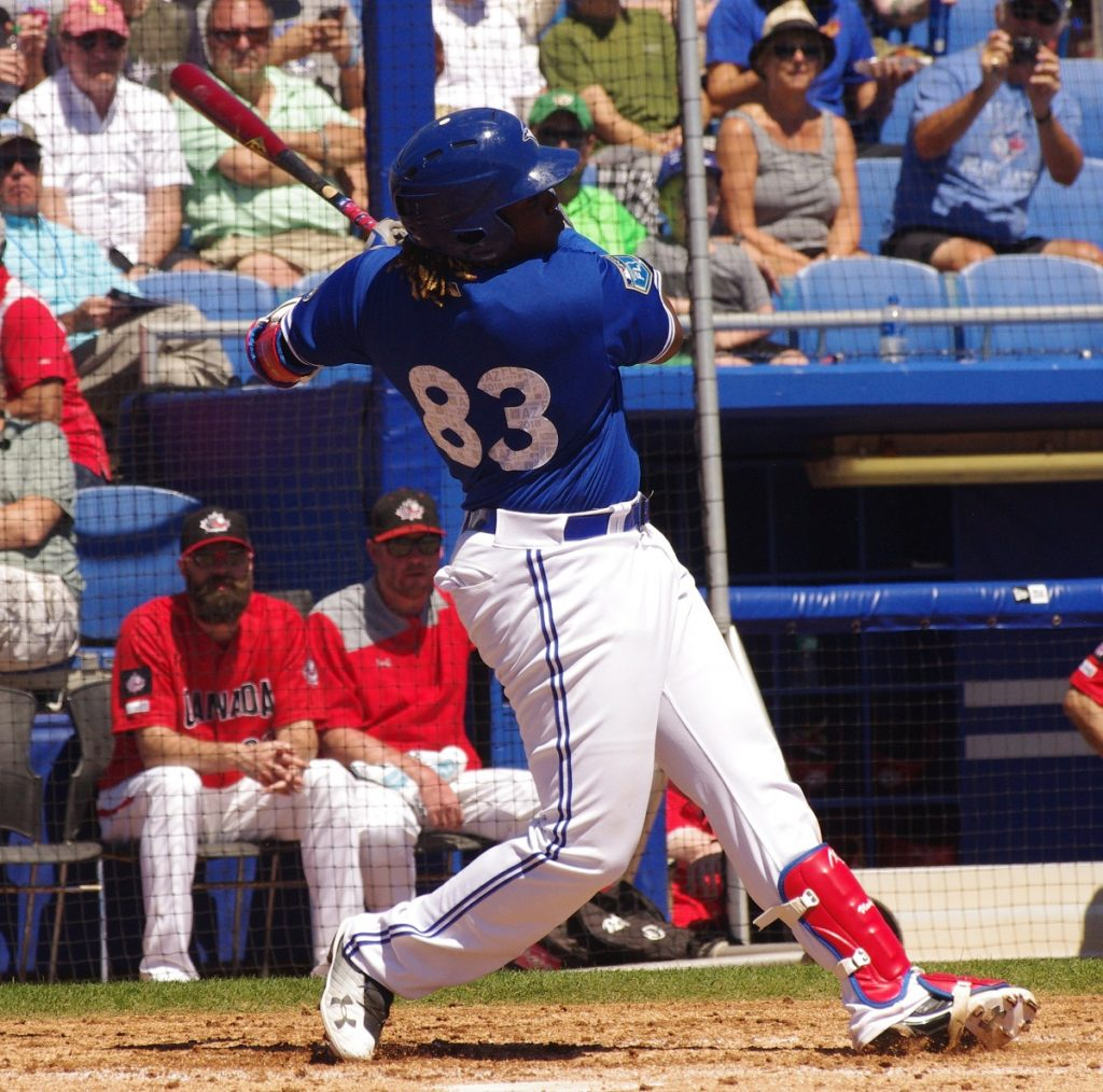 Vladimir Guerrero Jr. (Montreal, Que.) belted his first two major league home runs for the Toronto Blue Jays on Tuesday against the San Francisco Giants. Photo: Jay Blue