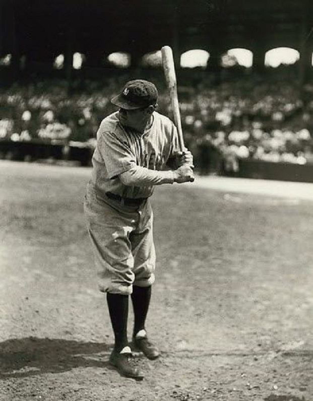 Babe Ruth at Comiskey Park in Chicago.