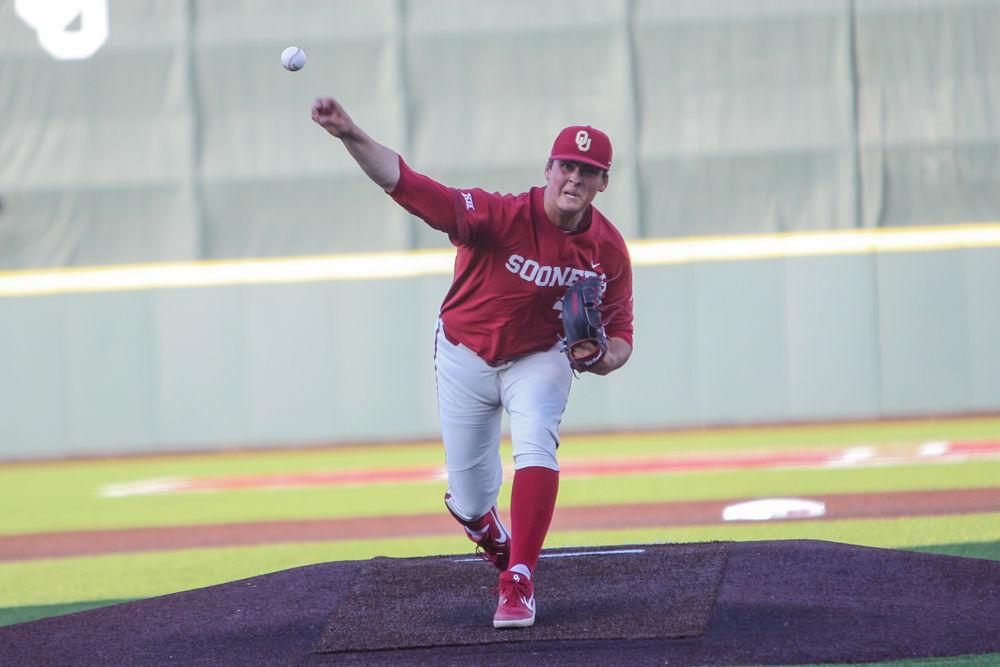 Ontario Terriers alum Ben Abram (Georgetown, Ont.) was named to the Big 12 All-Freshman team for his season that saw him make 13 starts, with three of those coming in conference play. Abram went 6-4 with a 4.24 ERA. Photo: University of Oklahoma Athletics