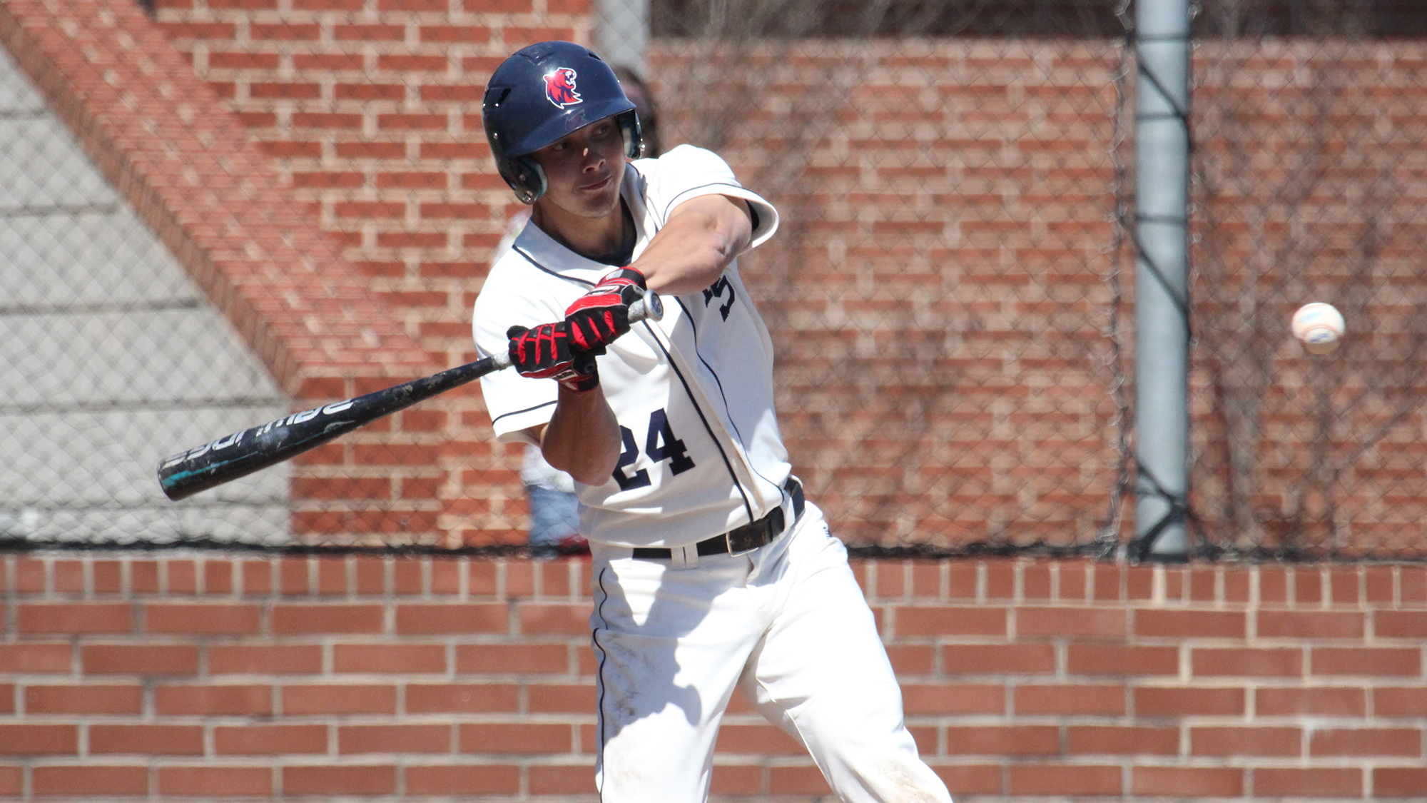 Etobicoke Rangers grad Nick Follett (Toronto, Ont.) went 8-for-16 with three home runs and nine RBIs in four games for the Rogers State Hillcats. Photo: Rogers State Athletics