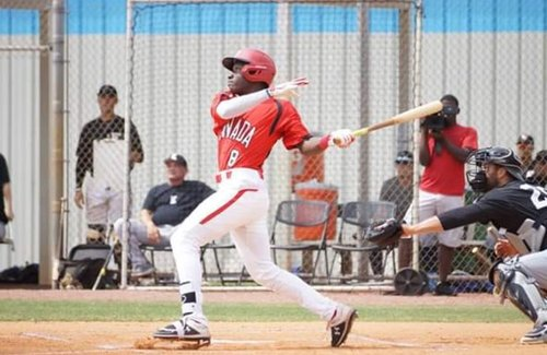 Ontario Blue Jays and Junior National Team outfielder Dasan Brown (Oakville, Ont.) is the No. 1 prospect on the Canadian Baseball Network's 2019 Draft List heading into this year's draft which will begin on Monday. Photo: Baseball Canada