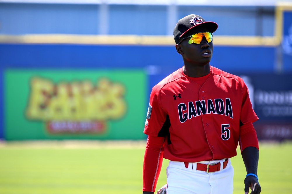 Canadian Junior National Team and Ontario Blue Jays outfielder Dasan Brown (Oakville, Ont.) is projected to be the first Canadian to be selected in the 2019 MLB Draft which will take place beginning today and go through Wednesday. Photo: Baseball Canada