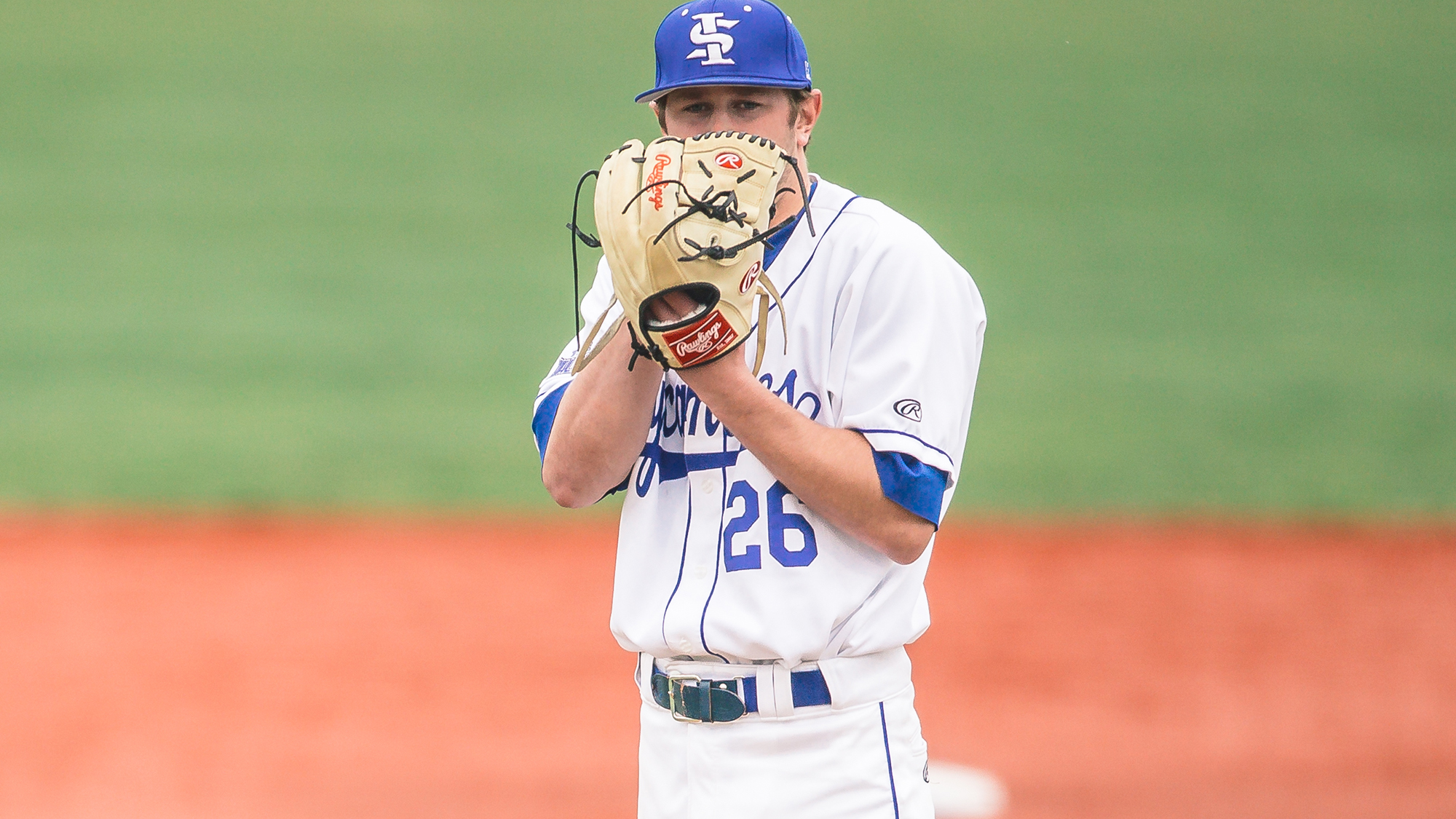 Great Lake Canadians alum Tyler Whitbread (Camlachie, Ont.) struck out six in 5 1/3 innings to help the Indiana State Sycamores to a 10-5 win over the Ohio State Buckeyes and into the Nashville NCAA Regional final against Vanderbilt. Photo: Indiana State Athletics