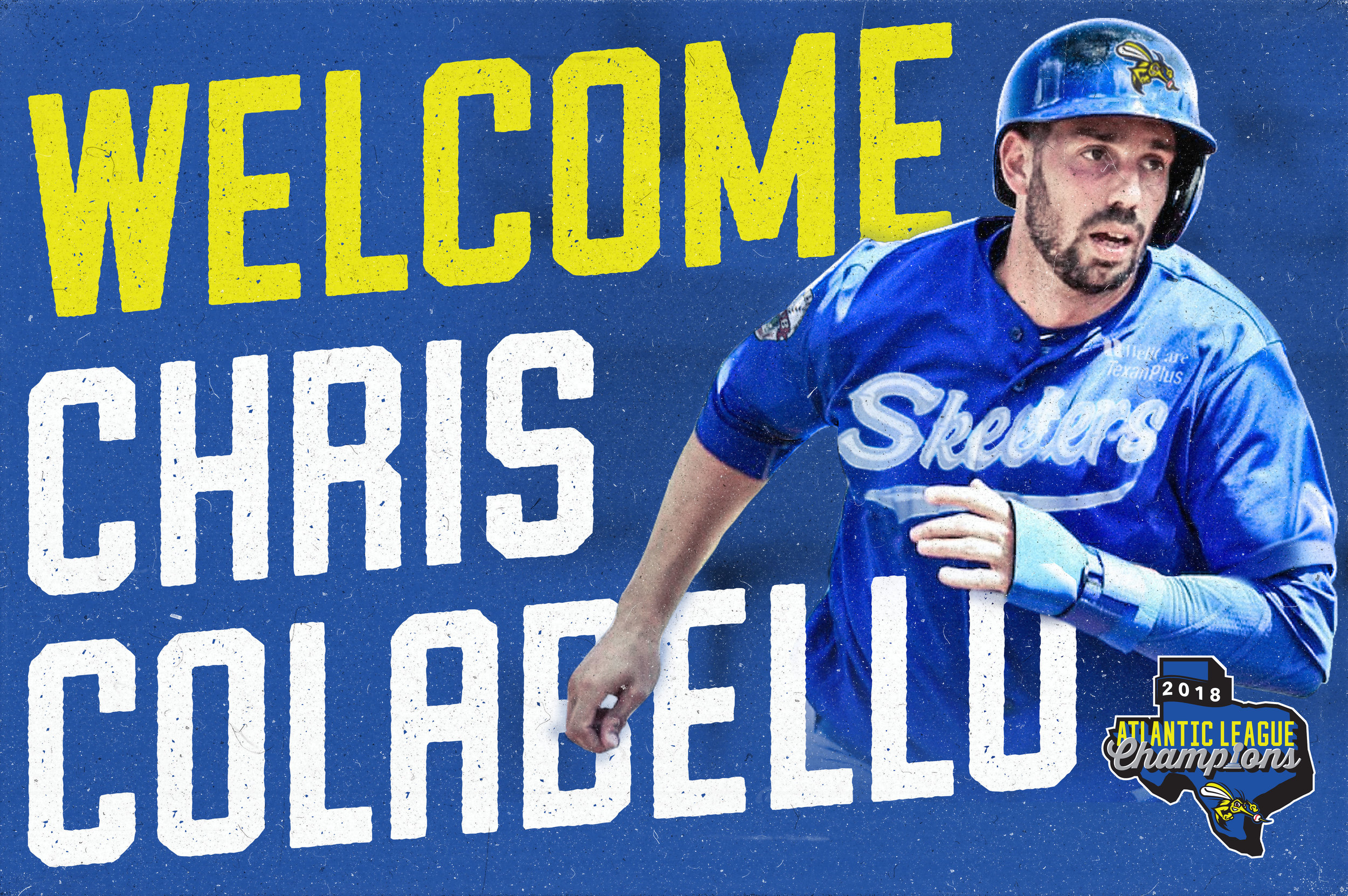 Chris Colabello, a key member of the Toronto Blue Jays' 2015 division-winning squad, is playing for the independent Sugar Land Skeeters this season. Photo: Sugarland Skeeters