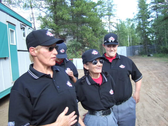 Eleanor Muir, lleft with Nikki Ross and Becky Hammond, before a game.
