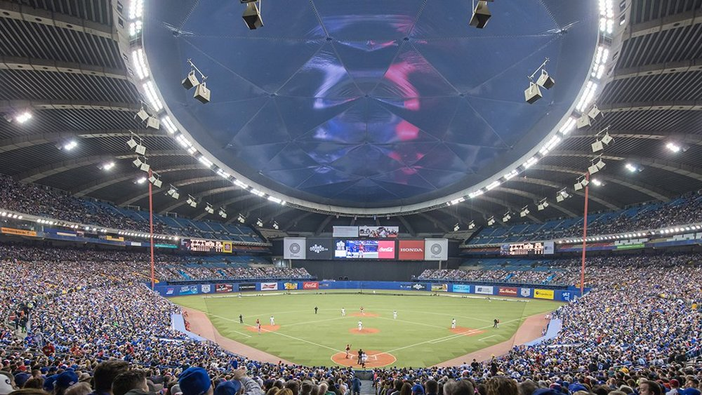 Toronto Blue Jays spring exhibition games have been attracting large crowds to Montreal's Olympic Stadium. Photo: Toronto Blue Jays/Twitter