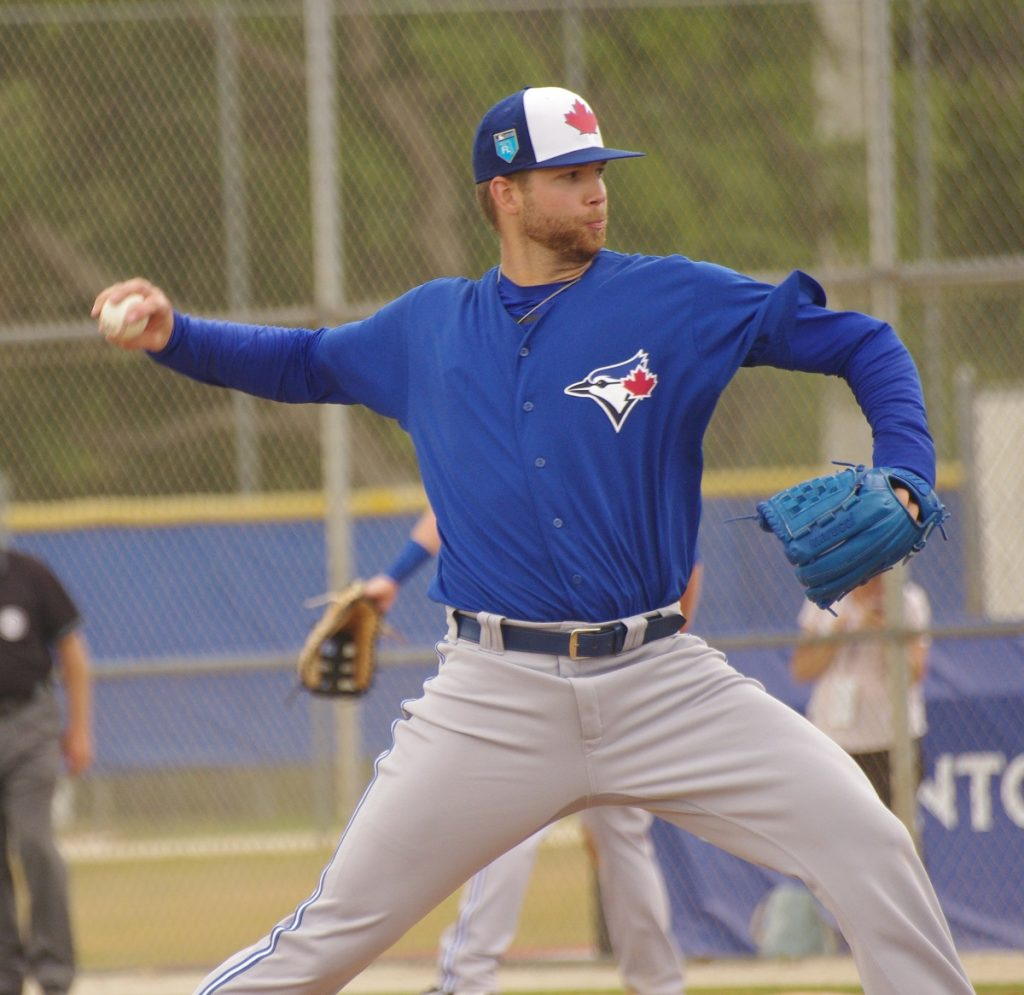 T.J. Zeuch did not allow a run in 5 2/3 innings in his triple-A debut for the Buffalo Bisons. Photo: Jay Blue