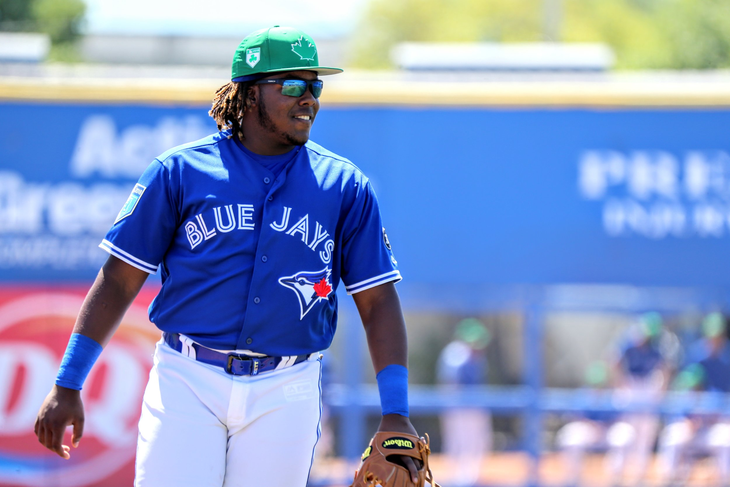 Montreal-born Vladimir Guerrero Jr. makes his Canada Day team debut in 2019. Photo: Amanda Fewer