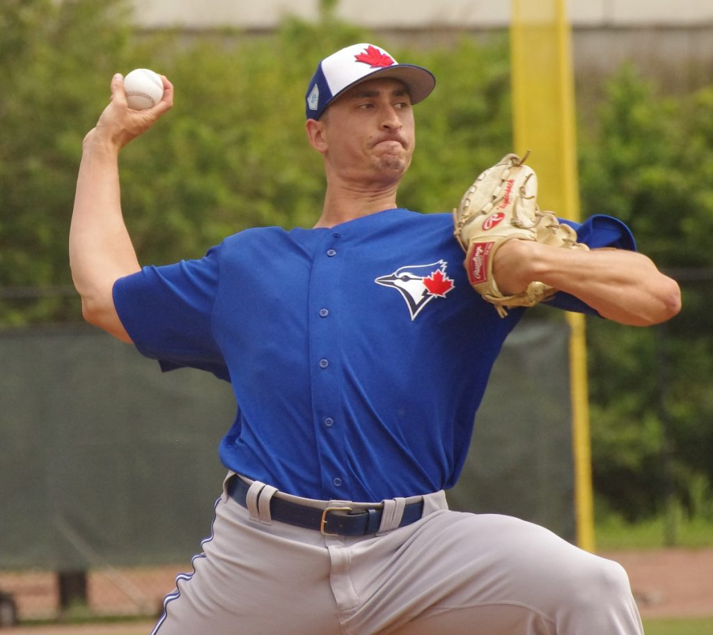 The Toronto Blue Jays recalled Jacob Waguespack from triple-A Buffalo on Wednesday. Photo: Jay Blue