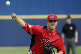 RHP Jameson Taillon might have been born in Lakeland, Fla. but the fact his mother grew up in Toronto and his father was from near Cornwall, Ont. made him eligible for the World Baseball Classic. He pitched 3 2/3 scoreless agaianst Team USA.
