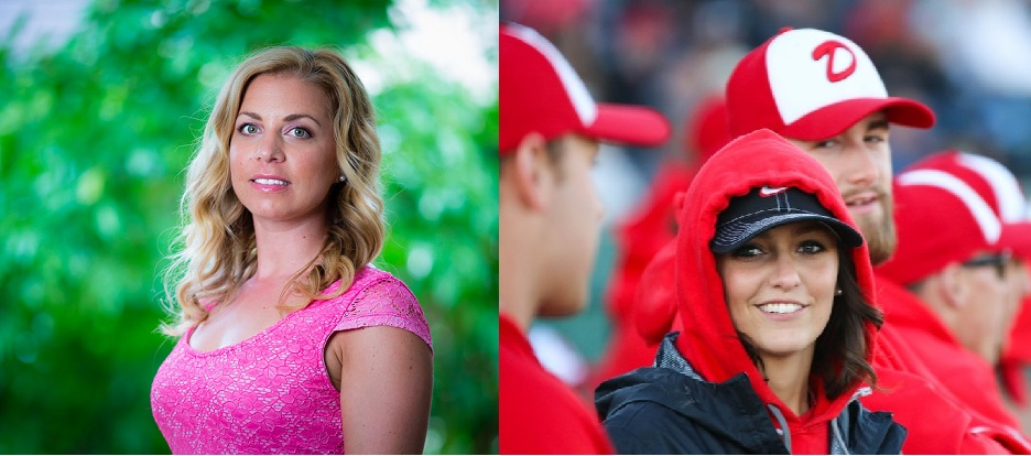 Okotoks Dawgs photographer Angela Burger (left) and team trainer Savannah Blakley (right) will receive the Red Cross Canadian Rescuer award prior to the Okotoks Dawgs game tonight for saving the life of Canadian Baseball Network founder Bob Elliott on February 2.