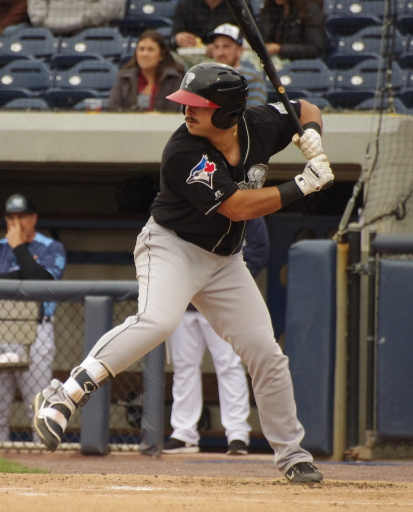 Brock Lundquist went 3-for-4 and had a double, a home run and four RBIs for the double-A New Hampshire Fisher Cats on Sunday. Photo: Jay Blue