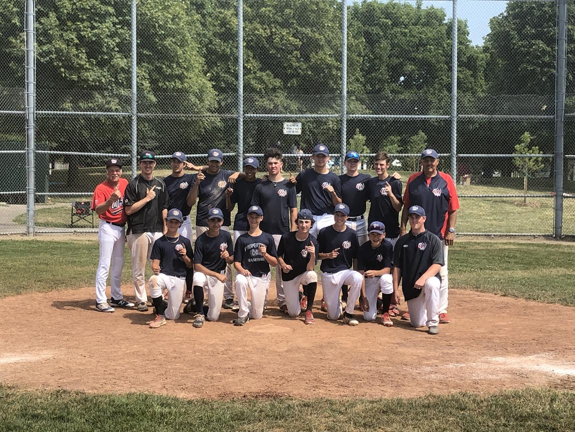 The Whitby Chiefs, coached by Clare Osborne, won the Baseball Ontario 15U championships at Clarkson Park in Mississauga and now head to Kinsmen Stadium where the host Oshawa Legionaires await.