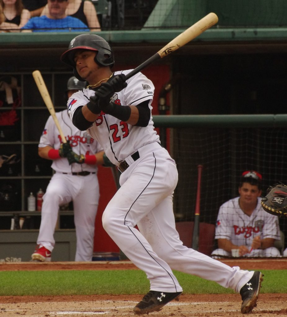 Gabriel Moreno went 2-for-4 with a home run and two RBIs for the low-A Lansing Lugnuts on Wednesday. Photo: Jay Blue