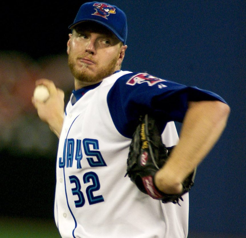 RHP Roy Halladay brought a lot to the Blue Jays in 2003 … 22 wins, 266 innings, 204 strikeouts and a Cy Young award, the best of his 12 seasons with the Toronto Blue Jays.