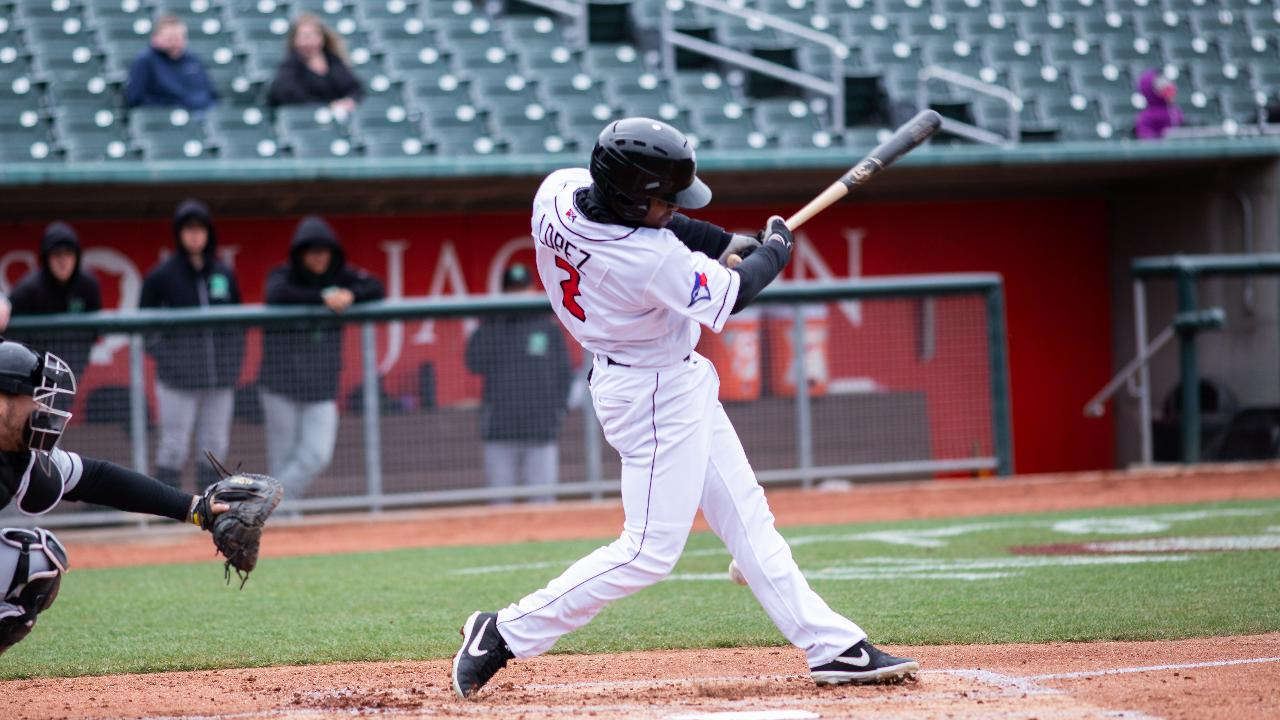 Otto Lopez (Montreal, Que.) has continued to show improvement with the low-A Lansing Lugnuts this season. Photo: Lansing Lugnuts
