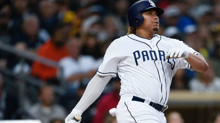 With consistent playing time, Ontario Blue Jays alum Josh Naylor (Mississauga, Ont.) has boosted his offensive numbers with the San Diego Padres. Photo: Associated Press