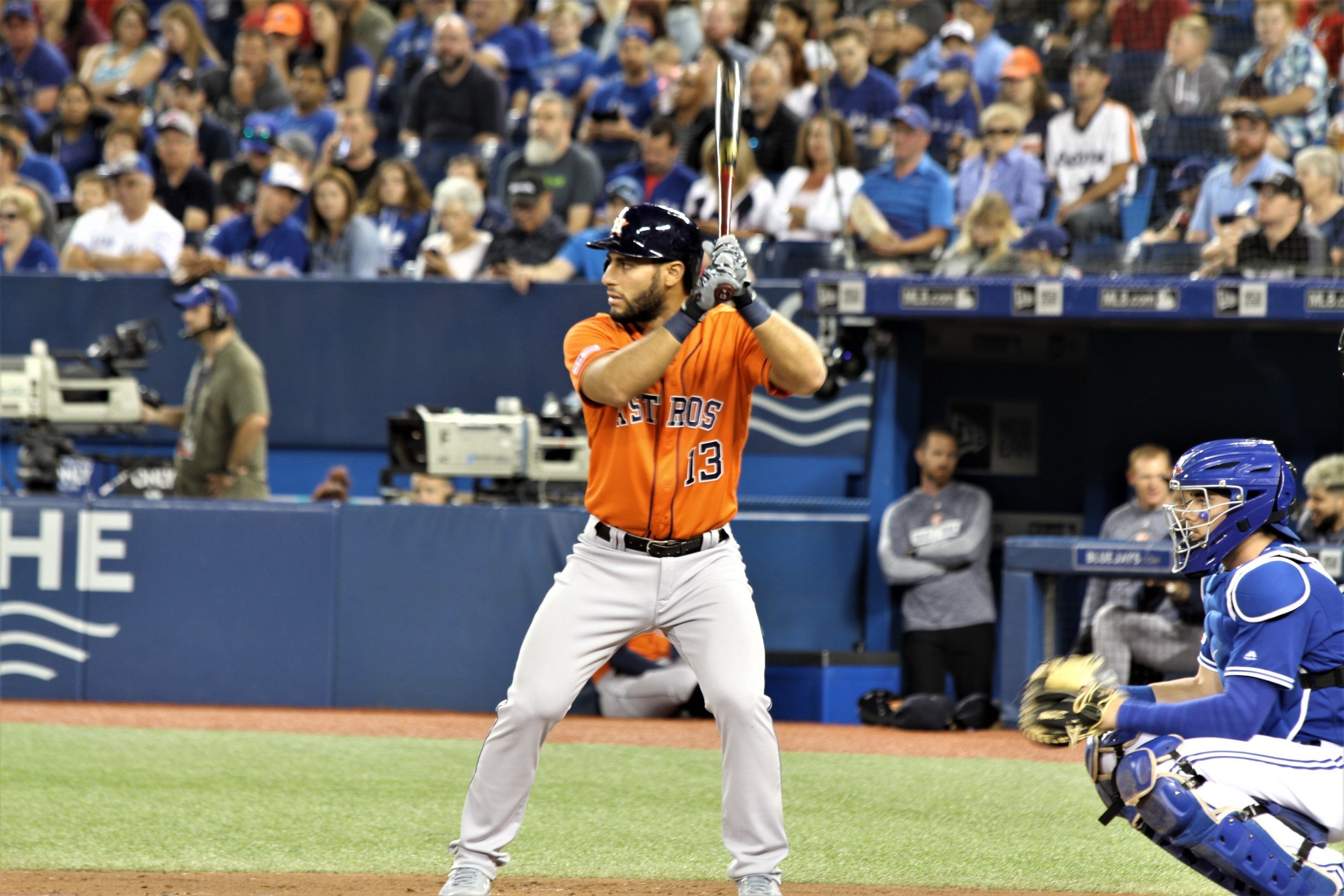 Houston Astros third baseman Abraham Toro (Longueuil, Que.) impressed scout Jim Stevenson (Leaside, Ont.) with his physical tools and his ability to slow down the game and perform under pressure. Photo: J.P. Antonacci