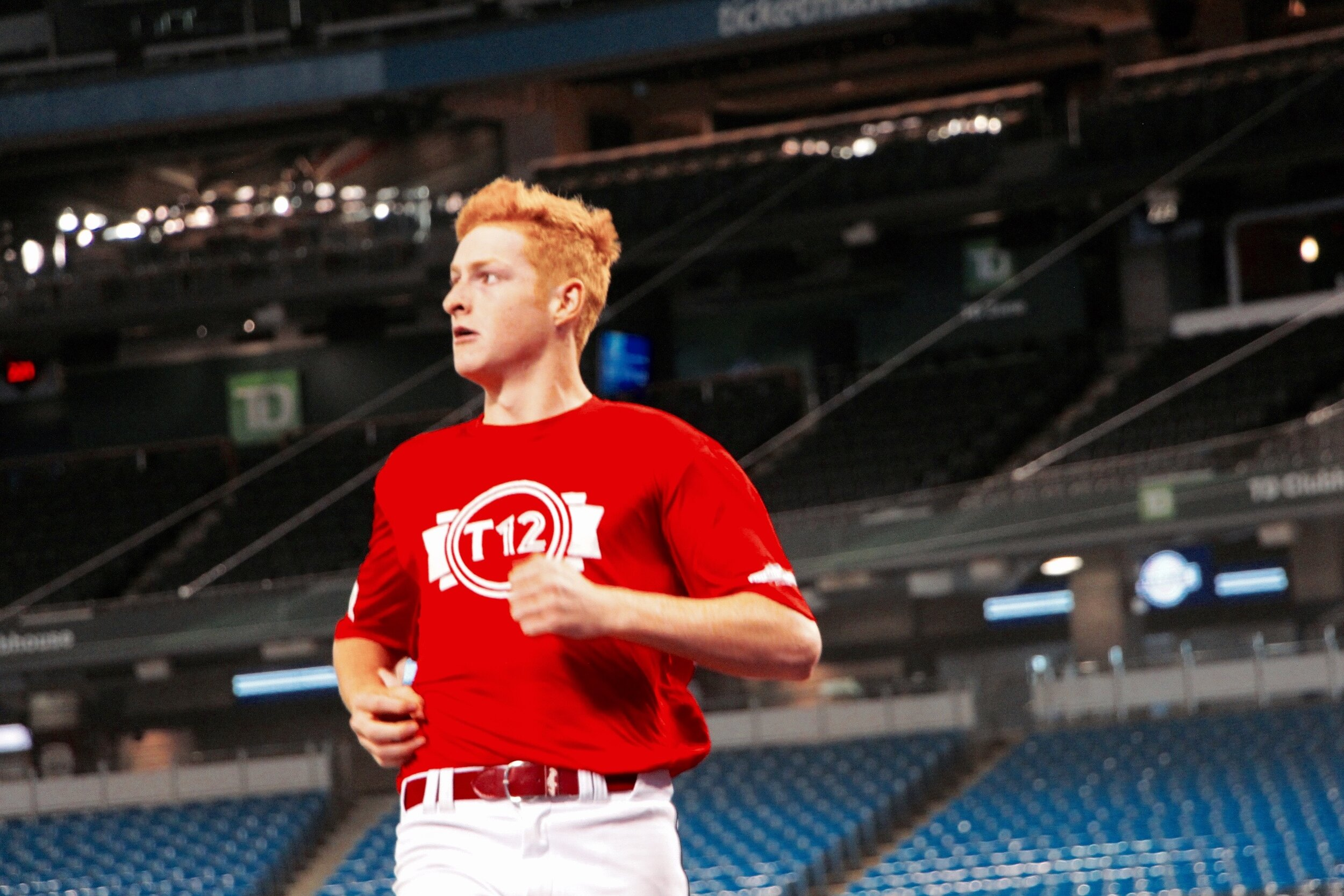 Fieldhouse Pirates OF and Team Red T12 standout Owen Caissie (Burlington, Ont.) revealed today that contrary to online listings, he is eligible for the 2020 MLB draft. Photo: Tyler King