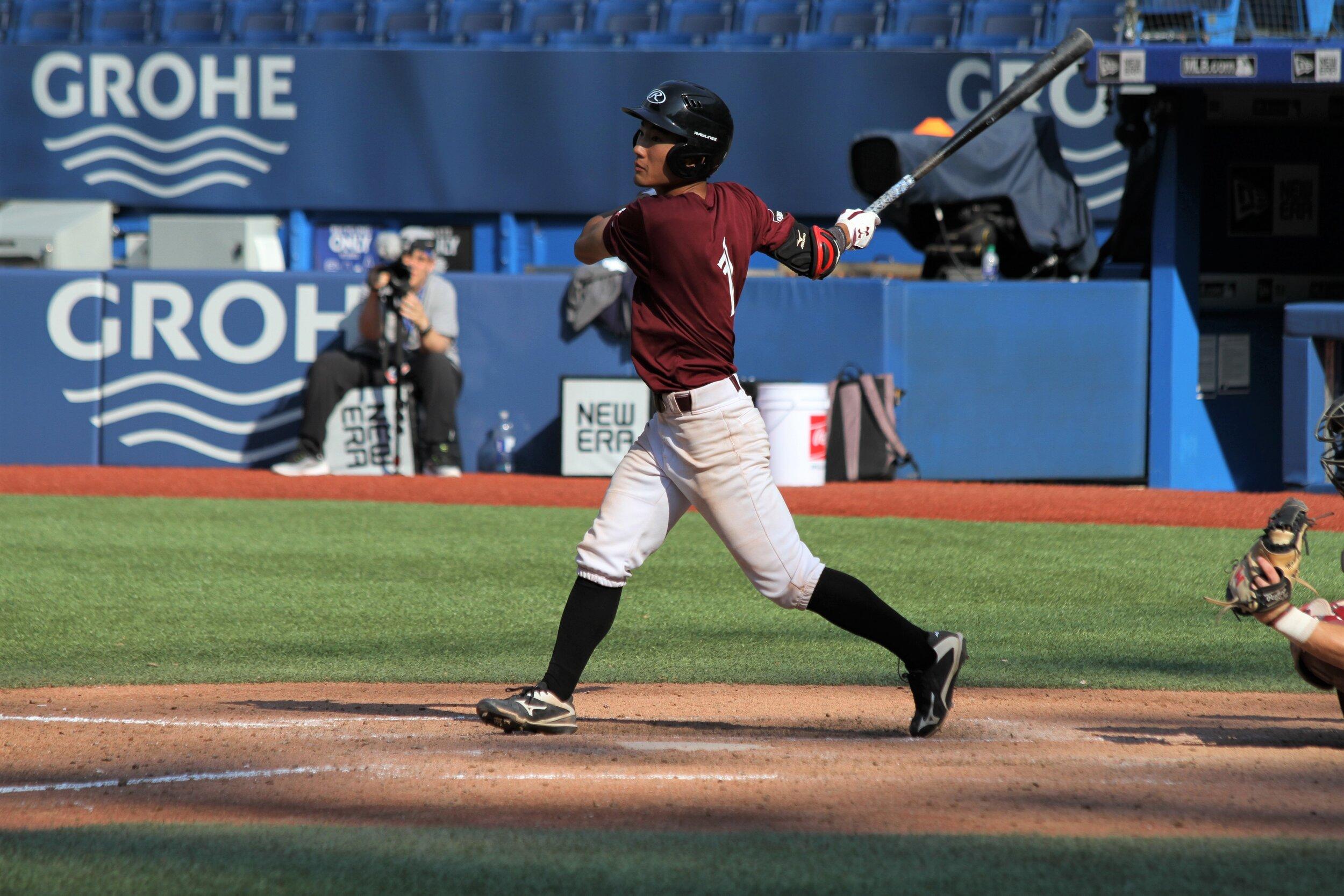Yosuke Fujie was chosen to take part in the T12 Prospects Game on Saturday. Photo: J.P. Antonacci