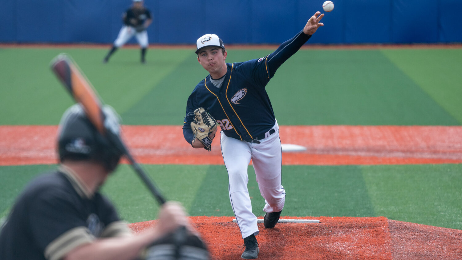VANCOUVER,BC:APRIL 21, 2019 -- UBC Thunderbirds v Oregon Technical Institute Hustlin' Owls during NAIA baseball action at UBC in Vancouver, BC, April, 21, 2019. (Rich Lam/UBC Athletics Photo) ***MANDATORY CREDIT***