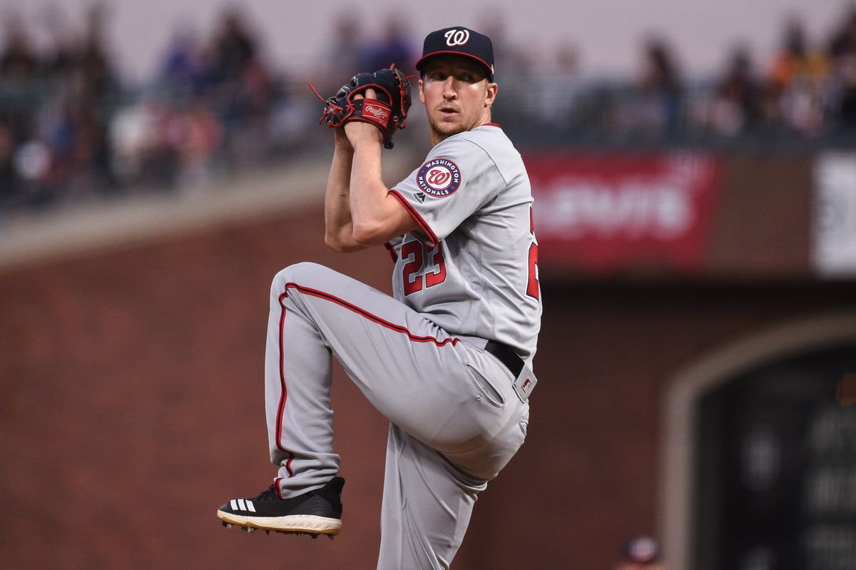 Former Toronto Blue Jays reliever Daniel Hudson got the final three outs for the Washington Nationals in their thrilling 4-3 National League Wild Card game win over the Milwaukee Brewers on Tuesday night. Photo: USA Today Sports
