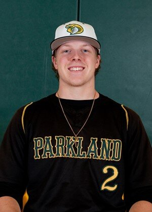 Former Great Lake Canadians Daniel Warkentin (Leamington, Ont.) batted .323 with 43 RBIs for Parkland last spring.