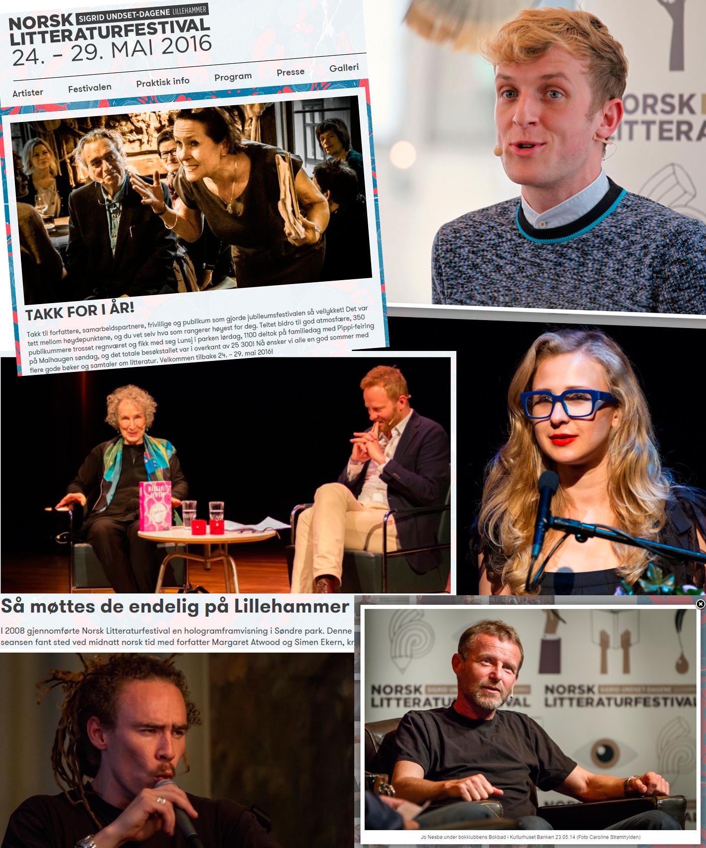 Noen bilder jeg har tatt for Norsk Litteraturfestival