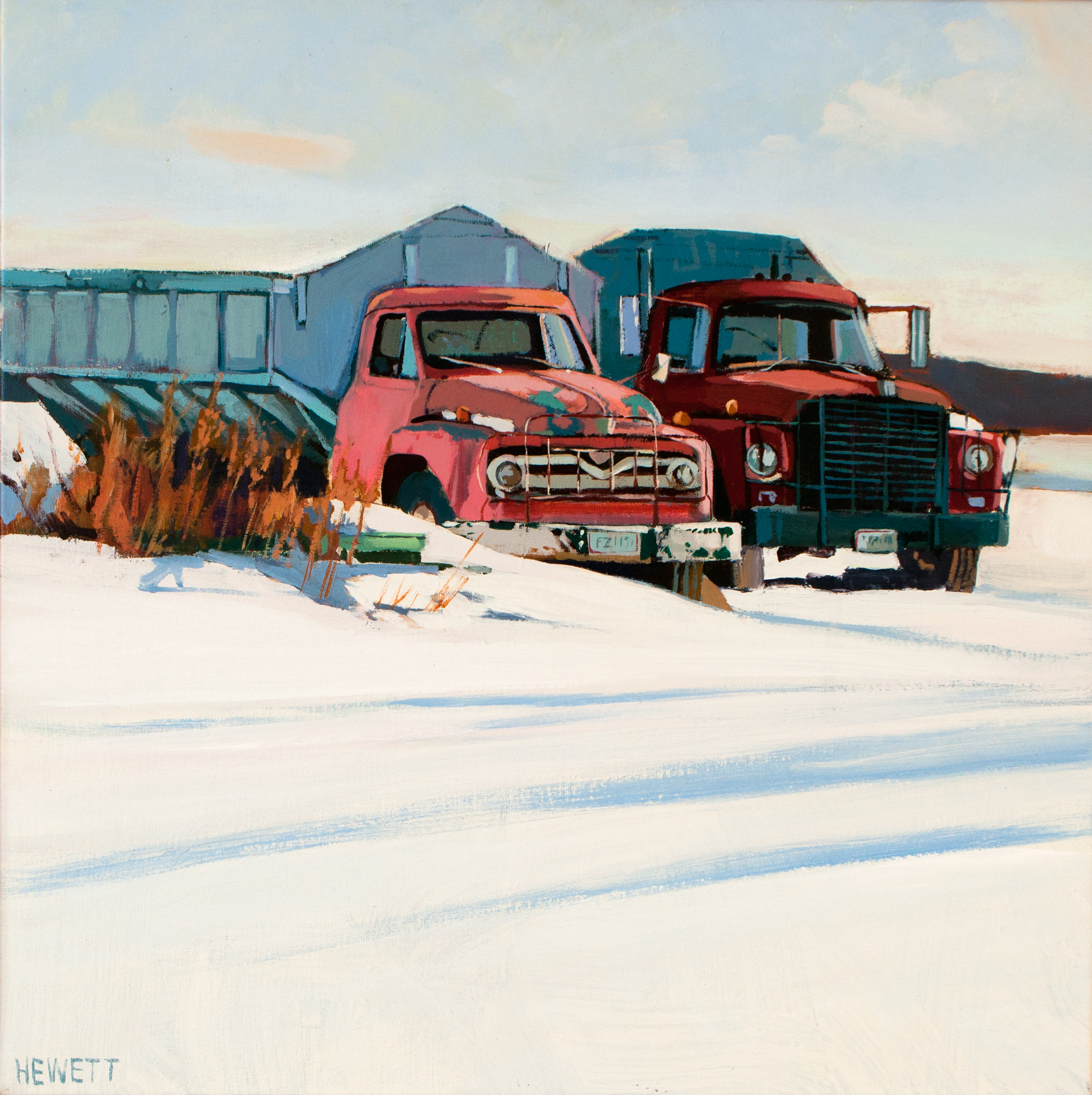 Trucks in Snow
