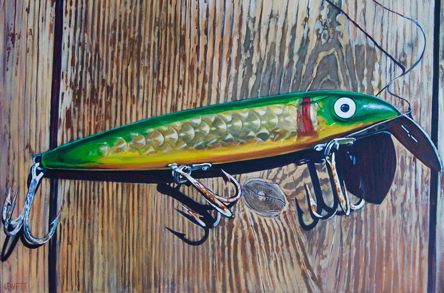 Old Green & Yellow Lure
