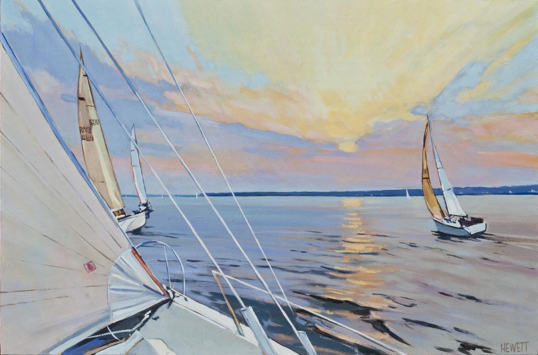 Sailing Races at Dusk