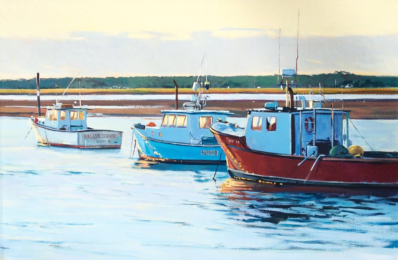 Boats at Sunset, Seabrook, NH