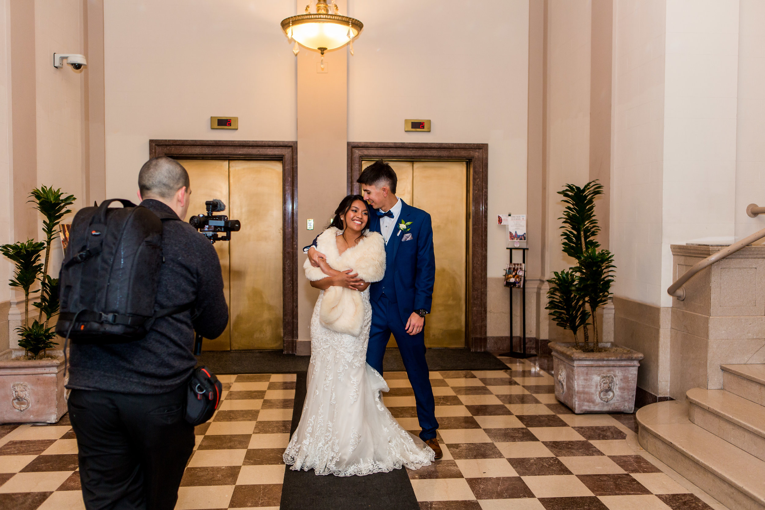two full time videographers - They know how to get the shots without you feeling like they are taking over the day, and capturing your love coming alive in motion!