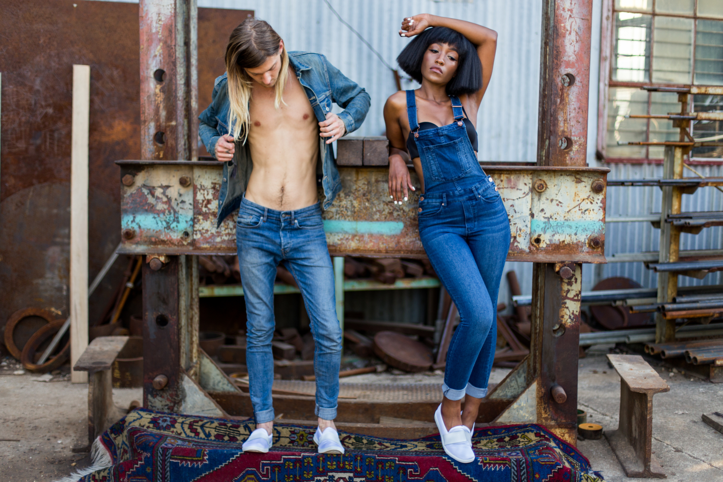 Photo by Monique Rodriguez, stylist Divinity Veloz, models Meighan Zai'Moy and Tyler Ruby with clothing from Crafts and Arts