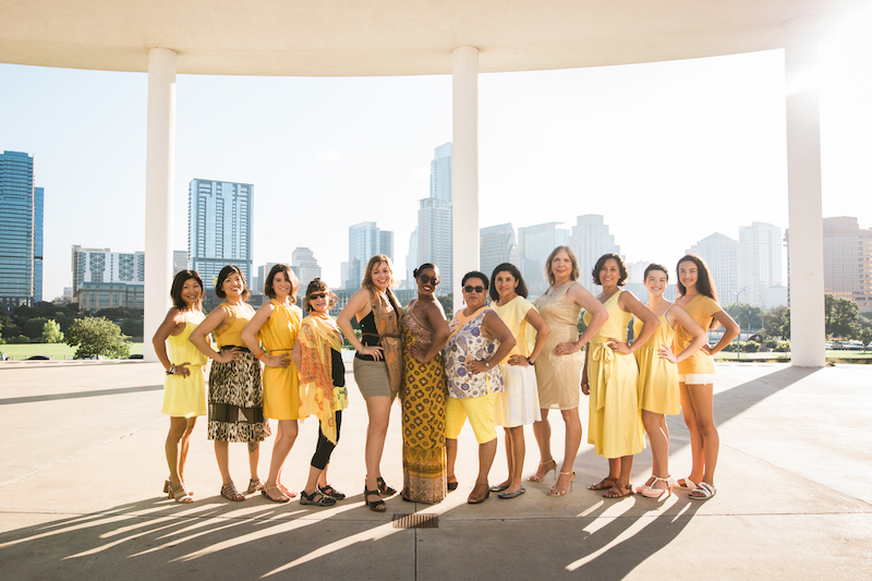 Photo of YWCA representatives by Diana Ascarrunz for Unity in Color: Austin