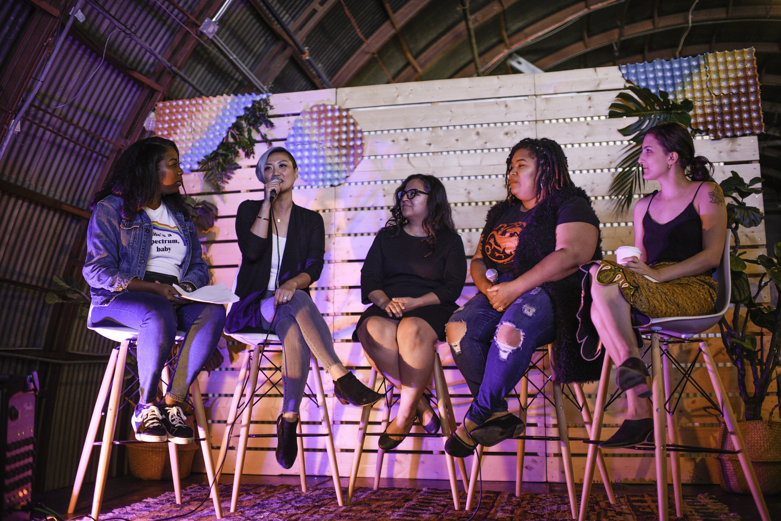 On Workflow and Family Life panel at craftHER Market Spring '19. Photo by Maya Coplin