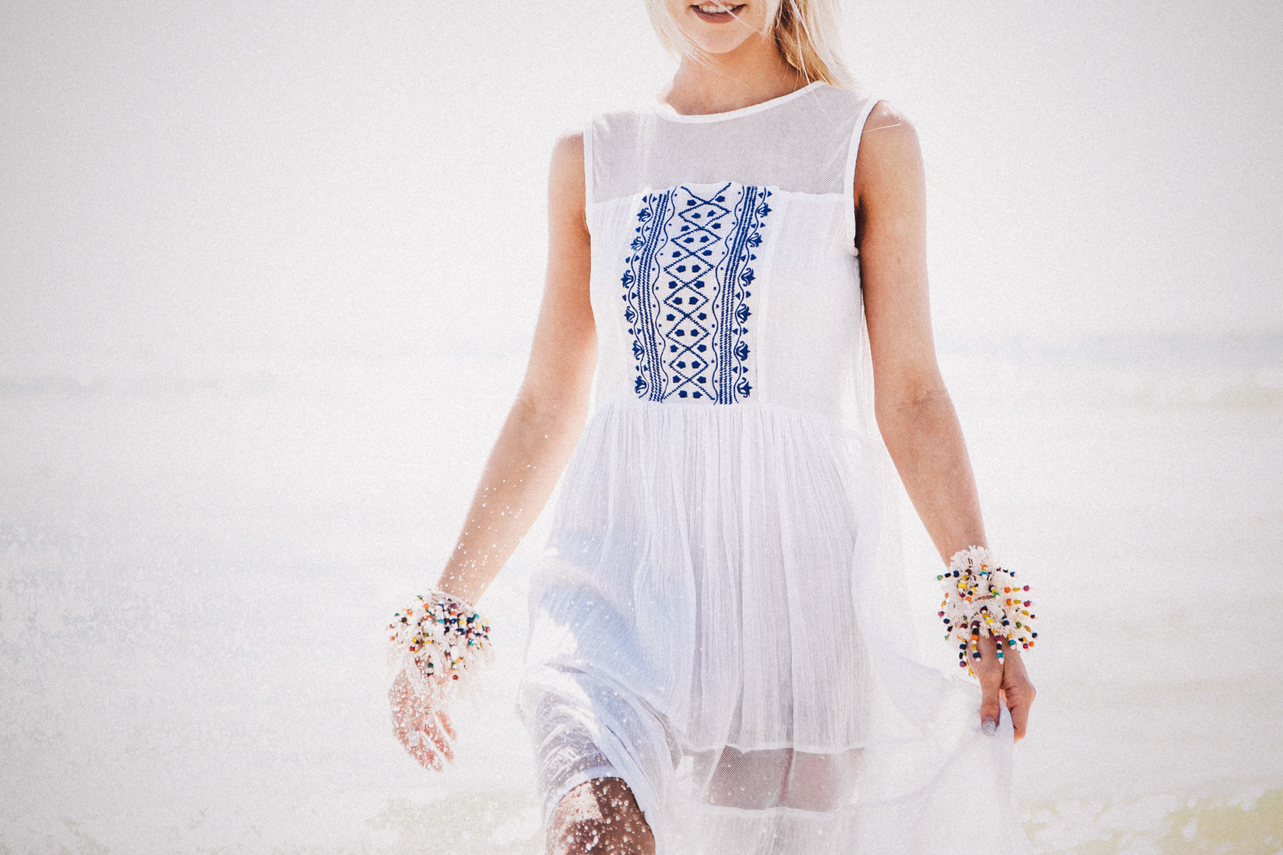 Embroidered Net Dress