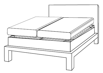 Place an Axel Bloom Bed System onto Your Own Box Spring and Bed Frame
