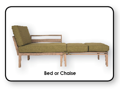 Axel Bloom Bed or Chaise
