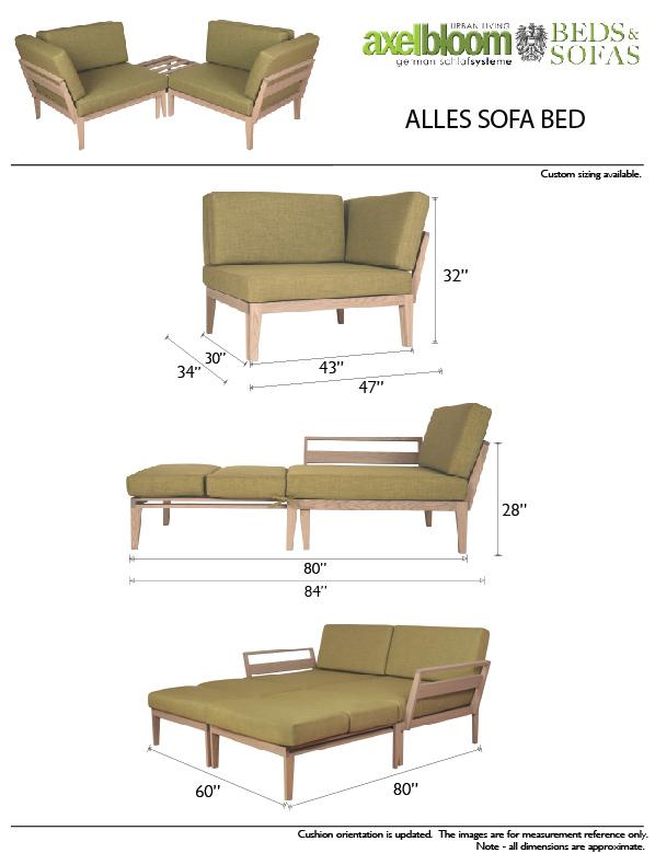 Axel Bloom Alles Sofa Bed