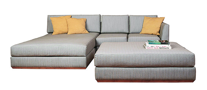 Monaco Sofa w/Platinum Fabric