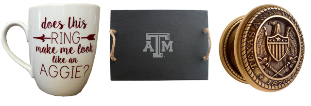 Even I can appreciate  this coffee mug , this slate tray from  College Artisan  is a pretty classy addition, and if you want to get really extreme you can replace ALL the doorknobs in your house with these doorknobs from  Collegiate Specialties