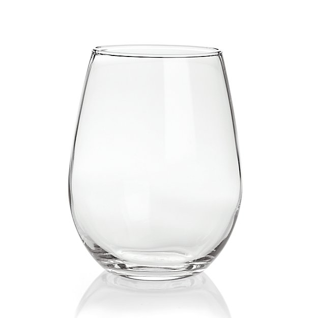 Crate and Barrel Stemless
