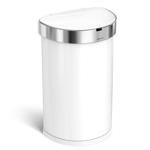 White Automatic Trash Can