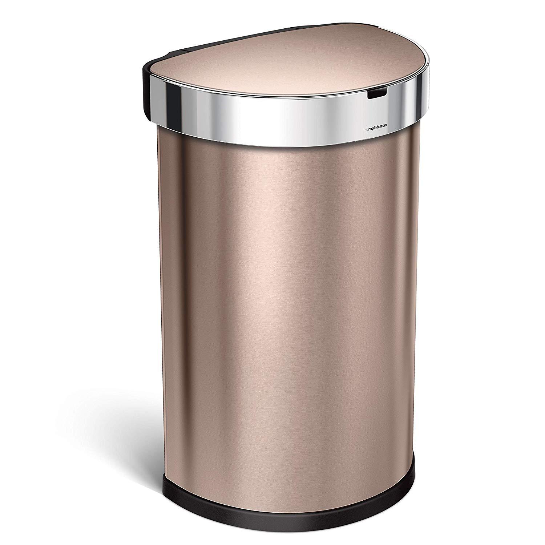 Rose Gold Trash Can