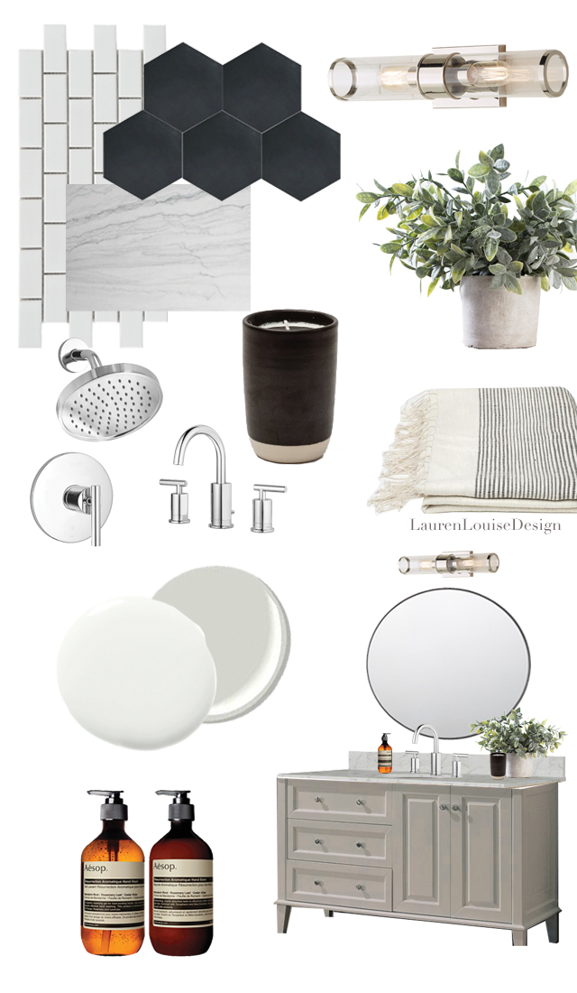 Paint Colors | Vanity & Trim: Benjamin Moore  Revere Pewter ; Walls: Sherwin Williams  Snowbound