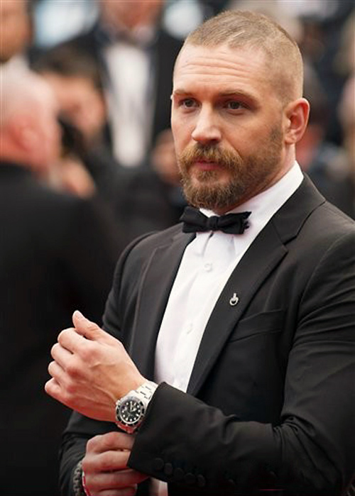 Tom Hardy at the Cannes premiere of Mad Max Fury Road