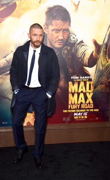 Tom Hardy at The US premiere of Mad Max Fury Road
