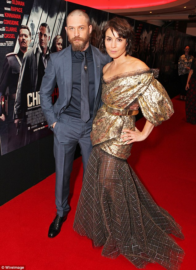 """Tom Hardy at the """"Child 44"""" premiere"""