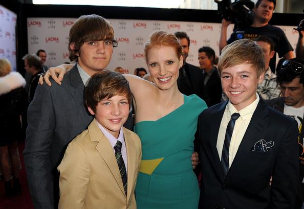 "Tye Sheridan, Laramie Eppler and Hunter McCracken at the premiere of ""Tree of Life"""